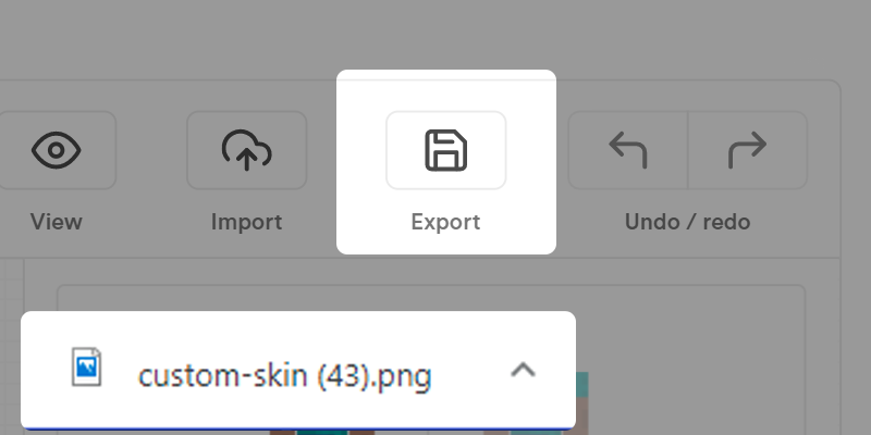 Press export to save to your computer