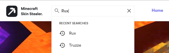 Search for a player username